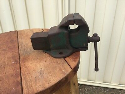 Vintage  small used bench vice