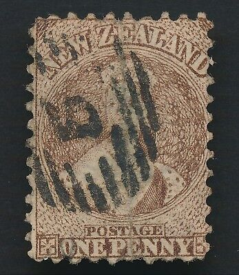 NEW ZEALAND 1871 1d CHALON HEAD WMK L STAR P.10 SG #126 FINE APPEARANCE REPAIRED