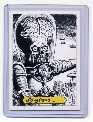 MARS ATTACKS Custom Ink Sketch Card - LAYRON DeJARNETTE