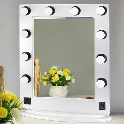 New Hollywood Makeup Vanity Mirror with Light Dimmer Stage Beauty Mirror Room BT