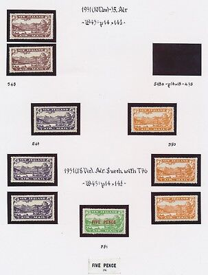 New Zealand Stamps 1931/1935 Airmail Issues Sg #548/50 Very Fine Mint Mvlh To Mh