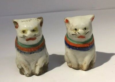 Unusual And Rare 19TH Century Porcelain Japanese Cat Figures Oriental Chinese