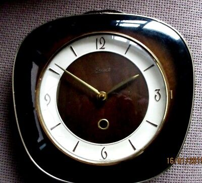 "Cute "" Exact "" West German mechanical 8 Day Wall Clock, circa. 1960s,"