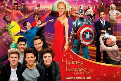 2 London Madame Tussauds Waxworks Tickets for Saturday 30th March 2019 at 9:15am