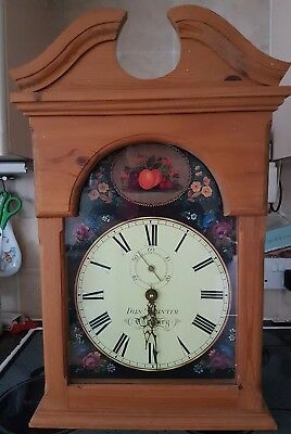 Antique Style Solid Light Wood wall clock