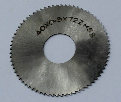 Slitting Slotting Saw 40mm OD 13mm ID 0.5mm Thickness 72T HSS Milling Cutter