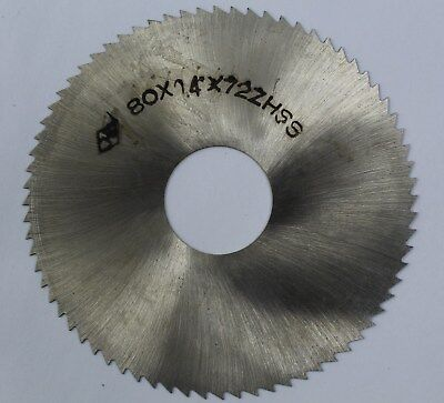 Slitting Slotting Saw 80mm OD 22mm ID 0.4mm Thickness 72T HSS Milling Cutter
