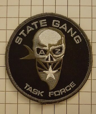 AZ Arizona DPS State Gang Task Force Police Patch    Hook & Loop Back  Skull