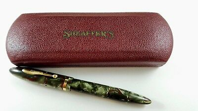 SHEAFFER 5-30 BALANCE RED VEINED GREY PEARL FOUNTAIN PEN Boxed