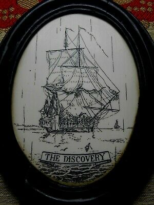 "High End ""Quality"" item...""The Discovery"" Ship Wall Plaque faux-scrim  SRP £94++"