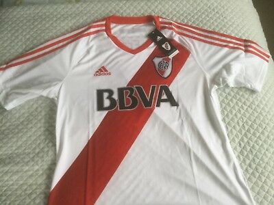 "Brand New Adidas River Plate (Argentina) Home Shirt Sz L (44"") Classic Football"