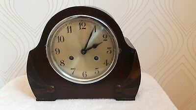 Art Deco  8 Day Chiming Mantel Clock In GWO