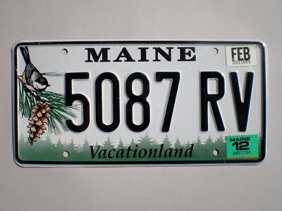 Authentic 2012 Maine License Plate