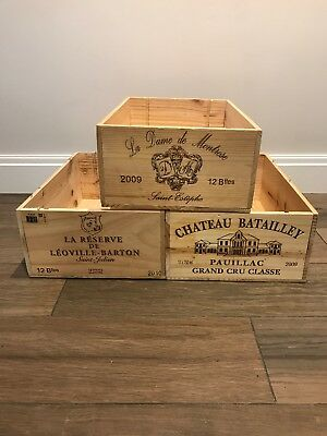 *12 bottle size - Wooden Wine Box Crate for Vintage Shabby Chic Home Storage*