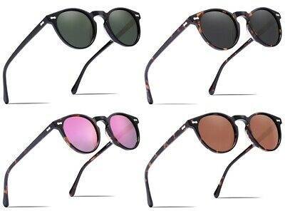 1f7d15b8291 Carfia Polarized Sunglasses Unisex Vintage Round Glasses with Case 100%  UV400