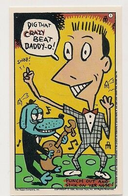 Pee-Wee's Playhouse Card #1 Pee Wee Herman Topps 1988 Punch out Nose Mr. Kite
