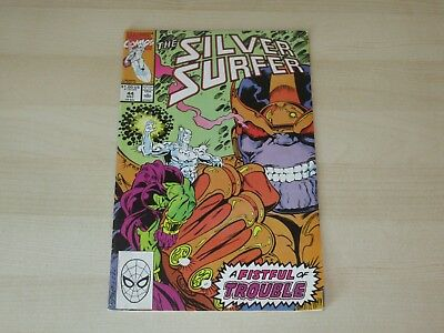 Silver Surfer #44 Key 1St Infinity Gauntlet Higher Grade Thanos Press This Comic