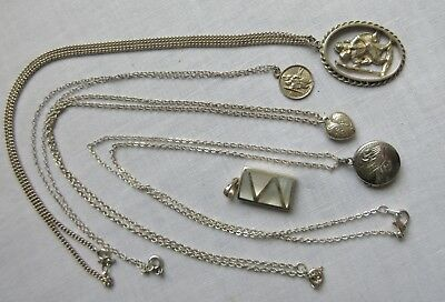 Mixed lot silver jewellery
