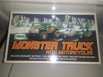 Hess MONSTER Truck With Motorcycles (2007 Hess Toy Truck) NEW in BOX