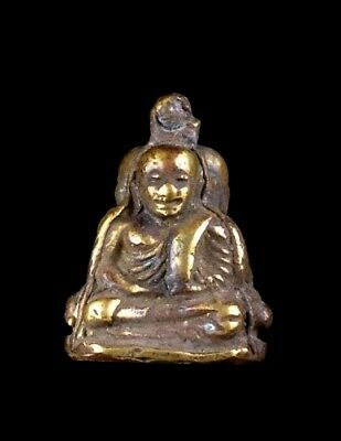 thai buddha amulet old Statue antique LP Ngern maestro POWERFUL pendant