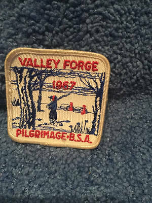 """~Vintage 1967~Valley Forge Pilgrimage """"boy Scout"""" Patch"""