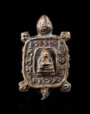 Thai Amulet Buddha Old Coin LP liw Buddhist art antique