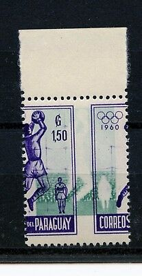"""Paraguay #559 (PA109) """"ERROR"""" 2 half with Silolette of player, MNH"""