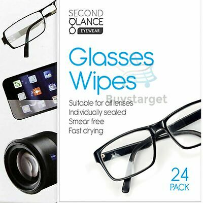 🔥24 X Glasses Cleaner Wipes Cloth All Lenses Spectacle Lens Camera Cleaning