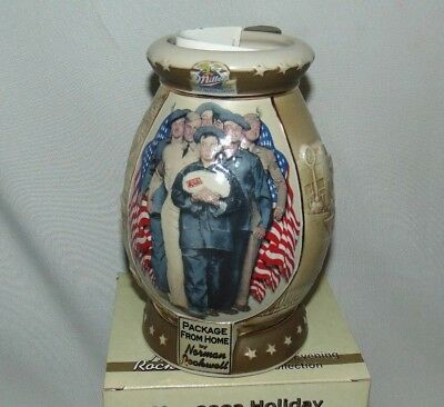 Holiday Collector Stein Miller Beer Norman Rockwell Package From Home COA