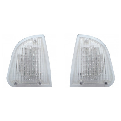 Kenworth T600 LED Turn Signal Lights / Amber LED Clear Lens /Pair Left and Right