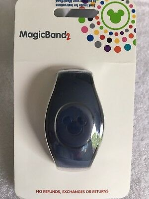 Disney Parks Dark Navy Blue Magic Band MagicBand  2 2.0 Link It Later, NEW