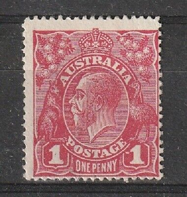 Australia - 1d KGV Head Stamp - Mint with Flaw to Right Value Tablet - See Scans