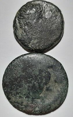 Ancient Greek coins. Lot of 2 cmkd coins.