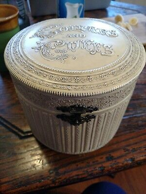 Antique Ivory celluloid Collar And Cuff Box