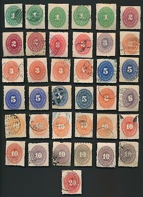 MEXICO STAMPS 1886-1895 NUMERAL STAMPS x37, ACCUMULATION MINT & USED VF TO MIXED