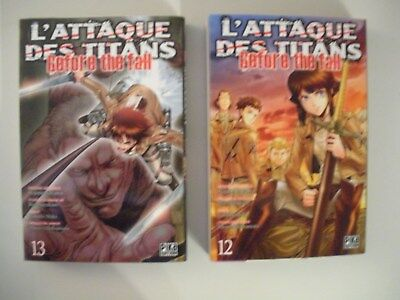 L'ATTAQUE DES TITANS  before the fall- Tomes 12 & 13  (VF & NEUF)   NO PAYPAL