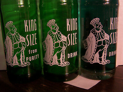 """KING SIZE""---ACL---1956---trio---green/clear glass---big PIC"