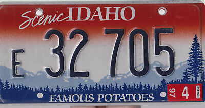 Idaho  License Plate, Very Good Condition.
