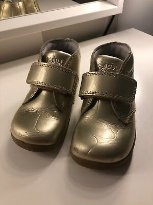 Bobux Gold Croc Effect Boots Size 4.5 Uk  21EU