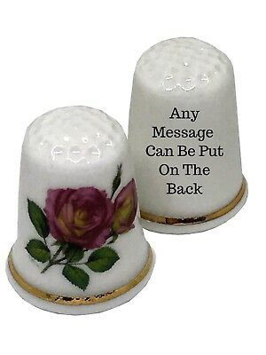 Personalised Thimble Gift For Her BN Personalised Fine Bone China Pug Dog With Mum Sign Thimble with Display Case