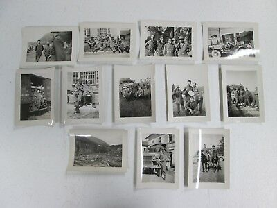 WWII, 12 Real Photographs, U.S. Troops In Europe, Black & White Snapshots