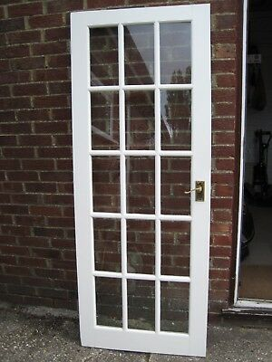 Internal Painted Glass Panelled Door