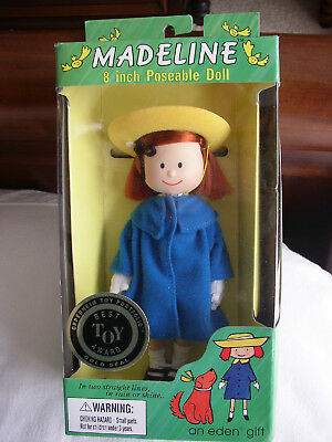Eden Toys Nrfb Mint Condition Madeline 8'' Poseable Doll 1990's-Best Toy Award -