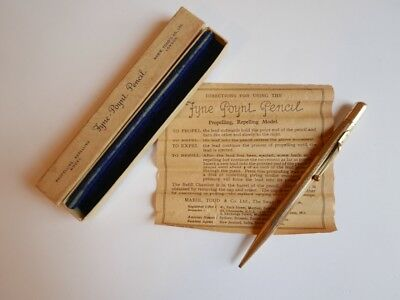 Vintage Mabie Todd 'Fyne Poynt' Rolled Gold Propelling Pencil. 1930s.