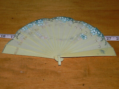 Vintage Celluloid Hand Painted Hand Held Fan