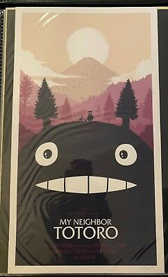 Olly Moss MY NEIGHBOR TOTORO AP Movie Poster Print Studio Ghibli Signed
