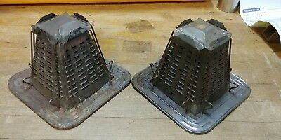 Antique CAMPFIRE 4 Slice TOASTER Metal Pyramid Shape Woodstove Firepit Use #2#