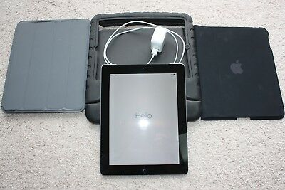 Apple iPad 4th Gen. 64GB, Wi-Fi + Cellular (Verizon), 9.7in - Black Front Bezel