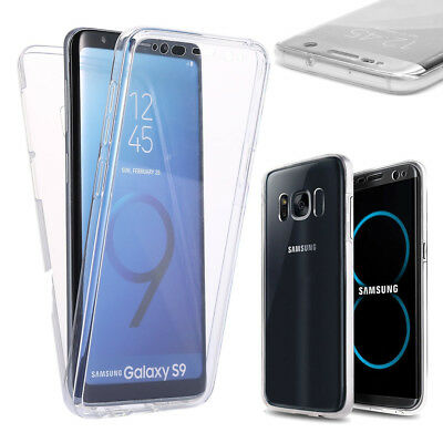 Case Cover 360° Clear FULL TPU Gel Silicone Tactile Samsung S7 S8 PLUS S9