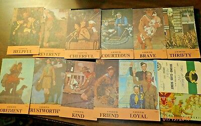 Vintage Set 1960s Boy Scout Law Cards Norman Rockwell, A Scout Is...